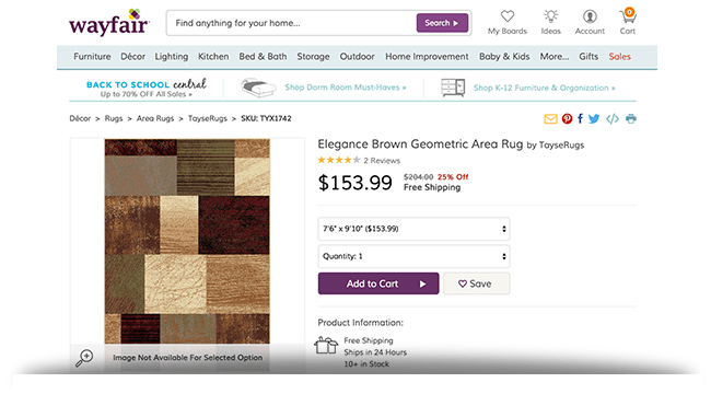 Elegance Area Rug Wayfair