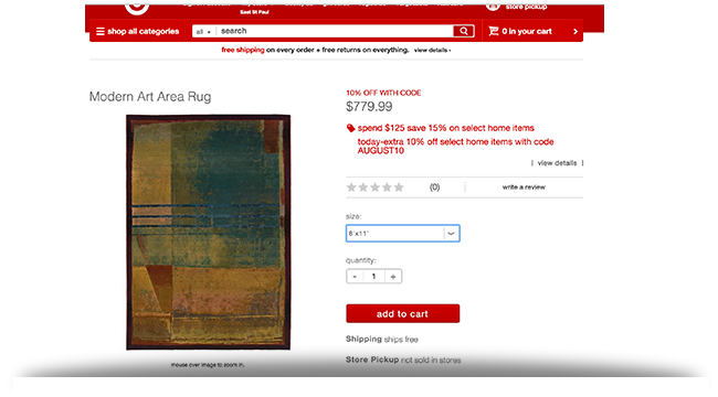 Target modern art area rug