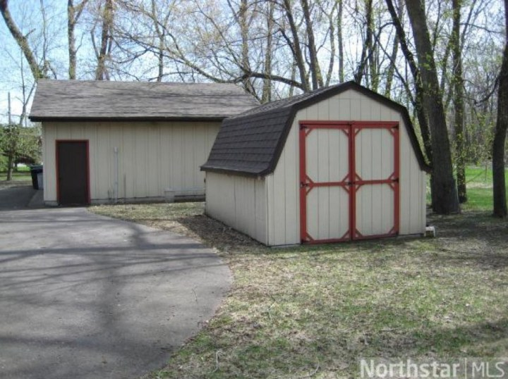 detached garage and shed