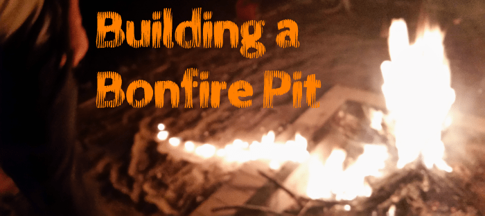 Ring of fire building a bonfire pit leah and joe home diy how to build a bonfire pit publicscrutiny Gallery