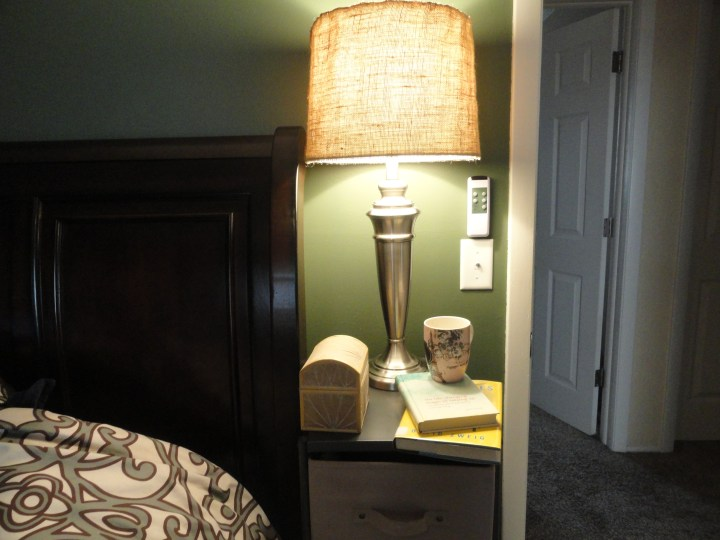 DIY lamp shade upgrade burlap