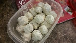 DIY sugar cookie dough protein bites