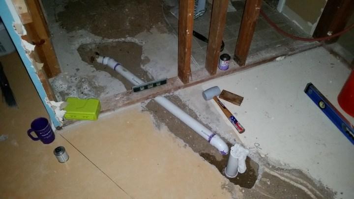plumbing a new shower drain