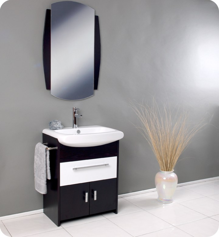 modern bathroom vanity white sink with storage