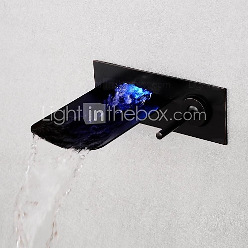 Bathroom sink hardware LED