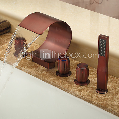 Bathroom sink copper hardware
