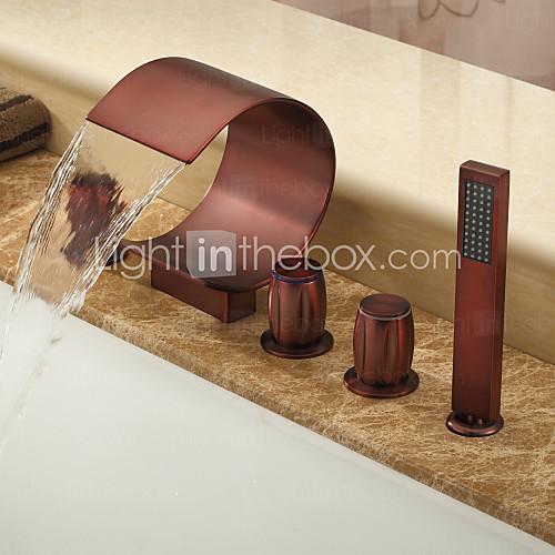 Bathroom sink copper hardware