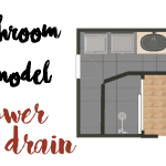 Bathroom Remodel | Shower Drain