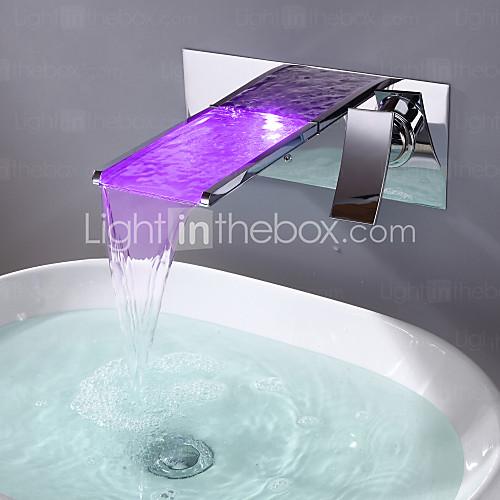 chrome bathroom sink vanity hardware LED
