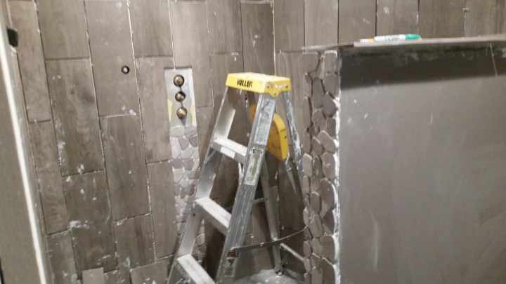 DIY shower tile install