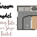 Bathroom Remodel: Sealing the Tile, Shower Slope and Toilet Wax Ring