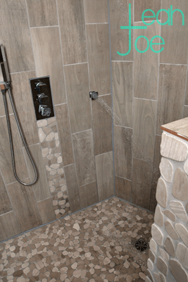 full DIY shower reveal rustic modern
