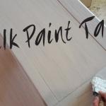 DIY Milk Paint Table