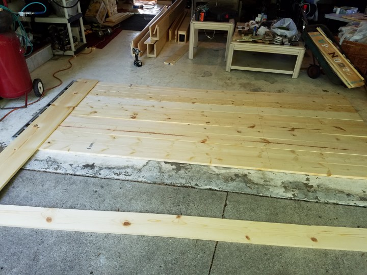 lumber for barn door DIY
