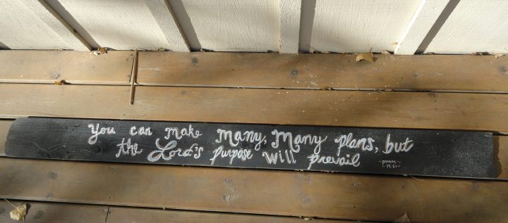 DIY chalk paint sign