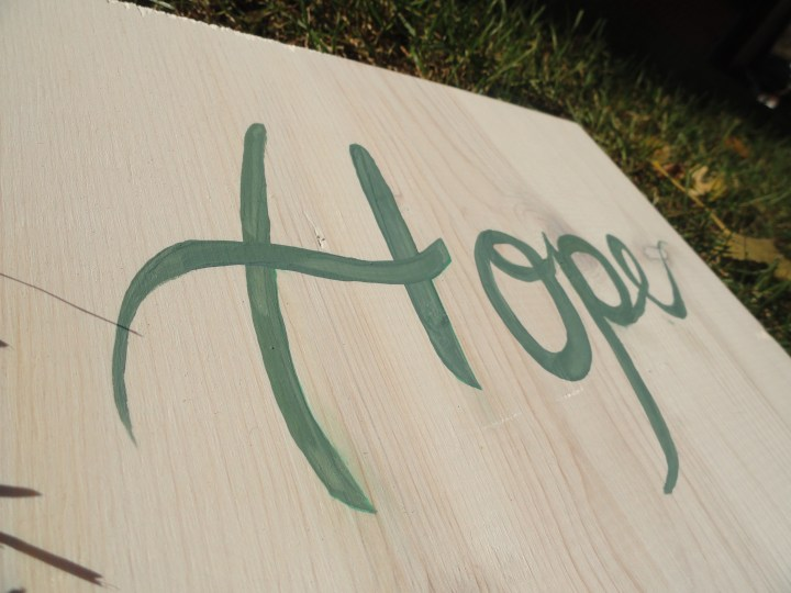 hope anchors the soul hook DIY wood sign