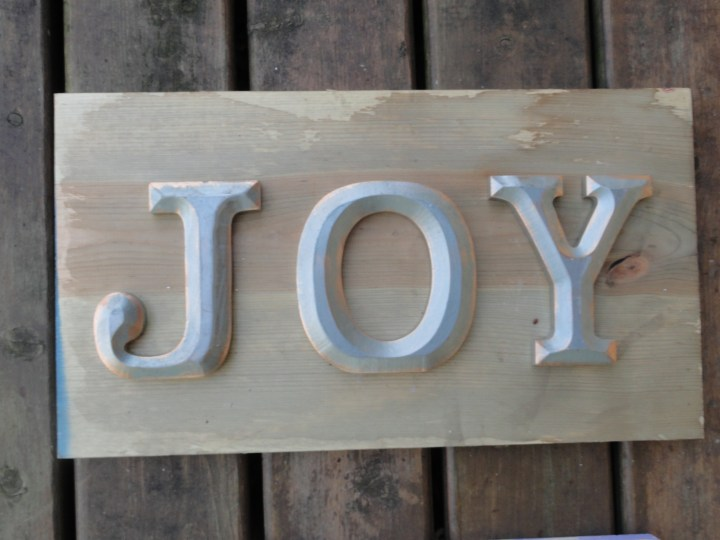 JOY signs wood letters