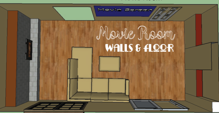 movie room walls and floor