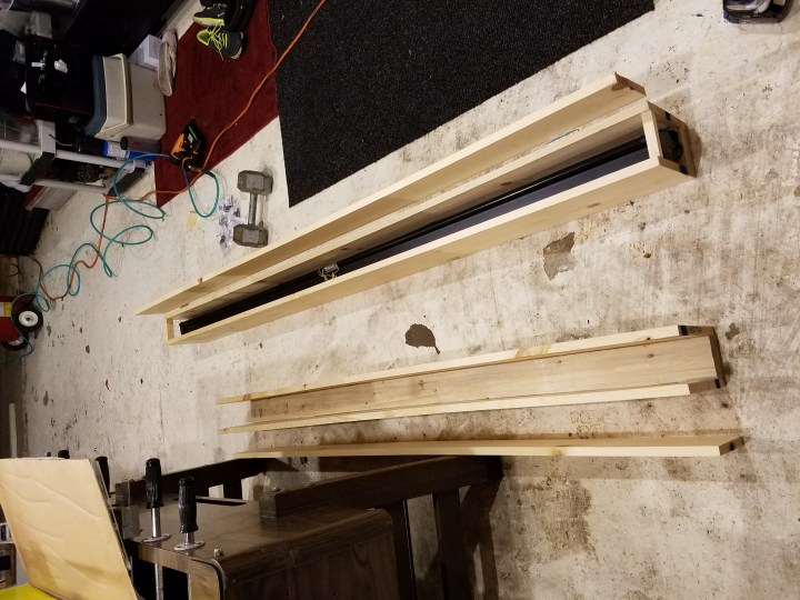 DIY wood beam assembly