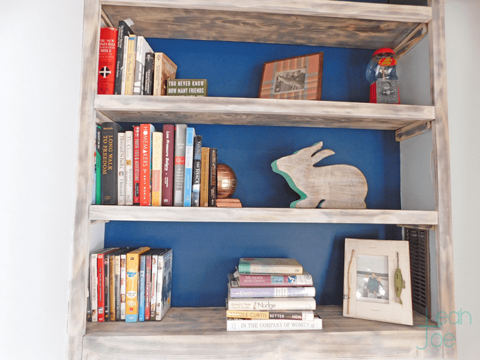 DIY built-in bookshelves styled