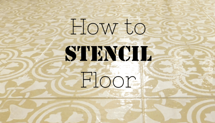 DIY floor stencil header how to stencil floor