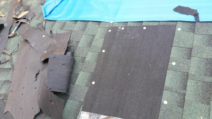 tornado damage roof