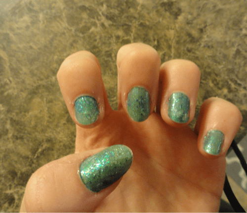 DIY Mermaid and Pirate Halloween Costume nails