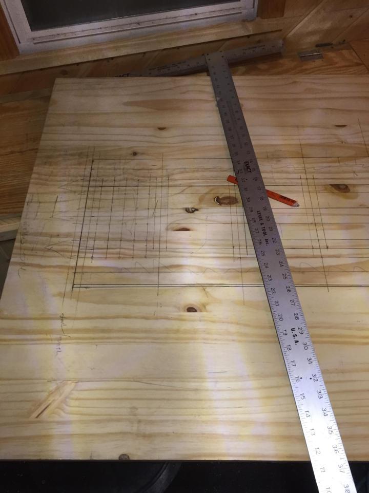 DIY ice shack house lake ice fishing permanent handle bar woodworking
