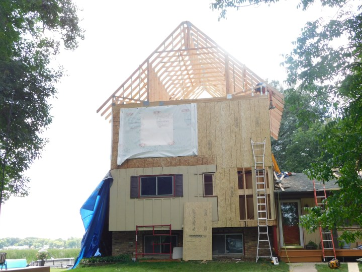 DIY addition framing roof trusses