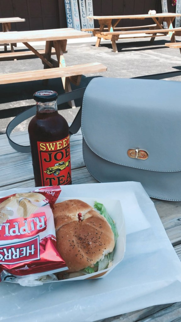 Turkey sandwich and sweet tea at Lakeside Farms in Ballston Lake NY