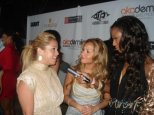 Chatting to the Cheetah Girls at Ludacris' Akademiks launch party in LA 2007
