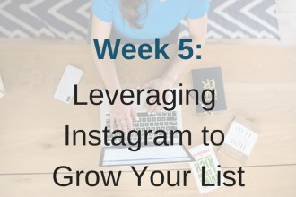 Module 5 in Limitless List is all about using Instagram to grow your email list.