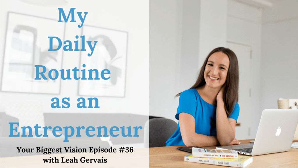 Tune in to this weeks episode to discover my daily routine as an entrepreneur and how I manage my time without the constraint of a 9-5 job.
