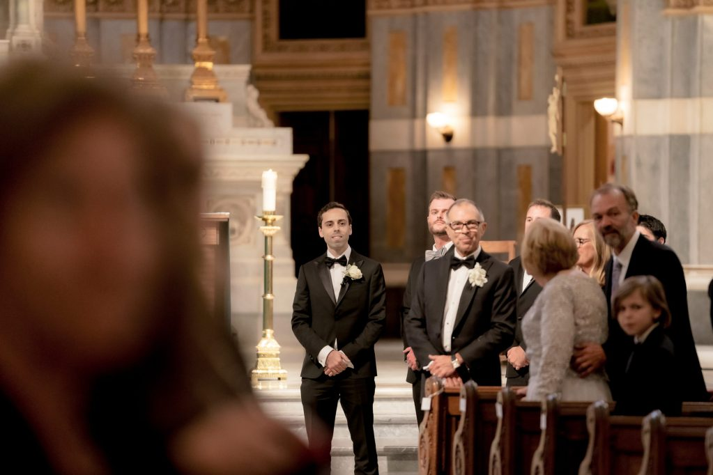 Groom at the aisle