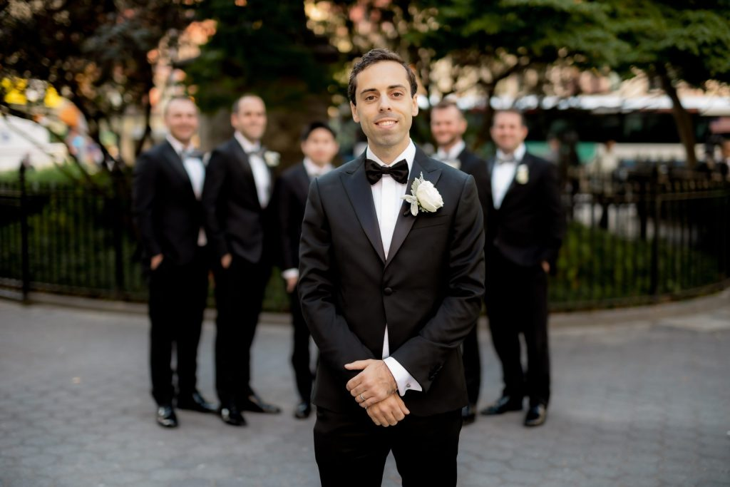 Groomsmen in Madison Square Park