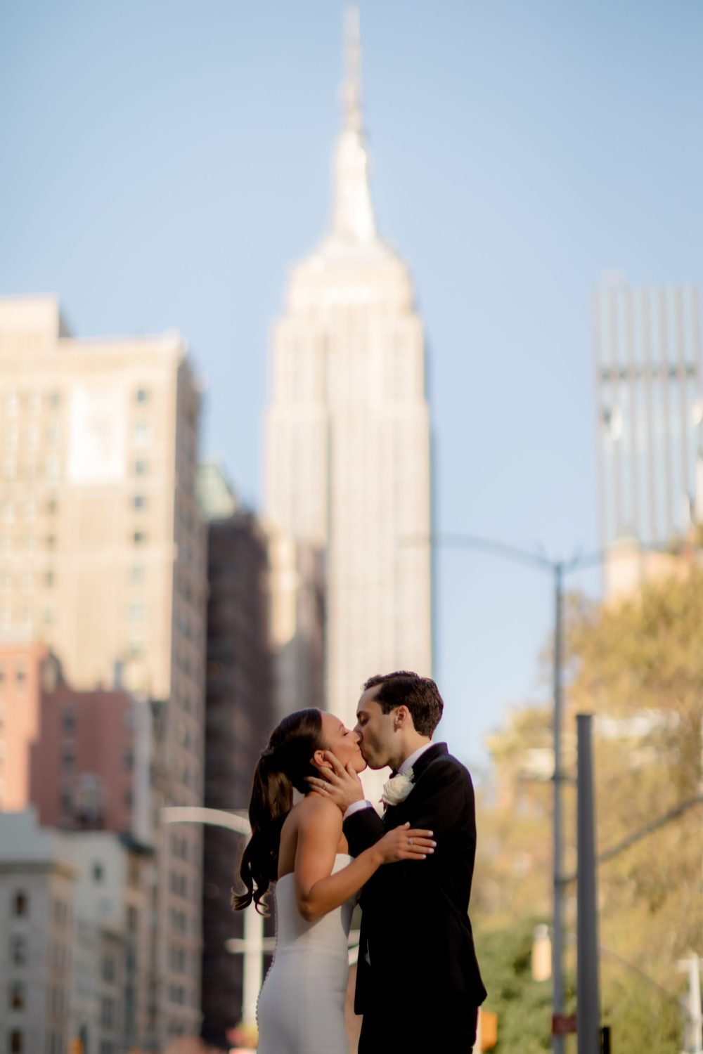 Wedding in front of the Empire State Building