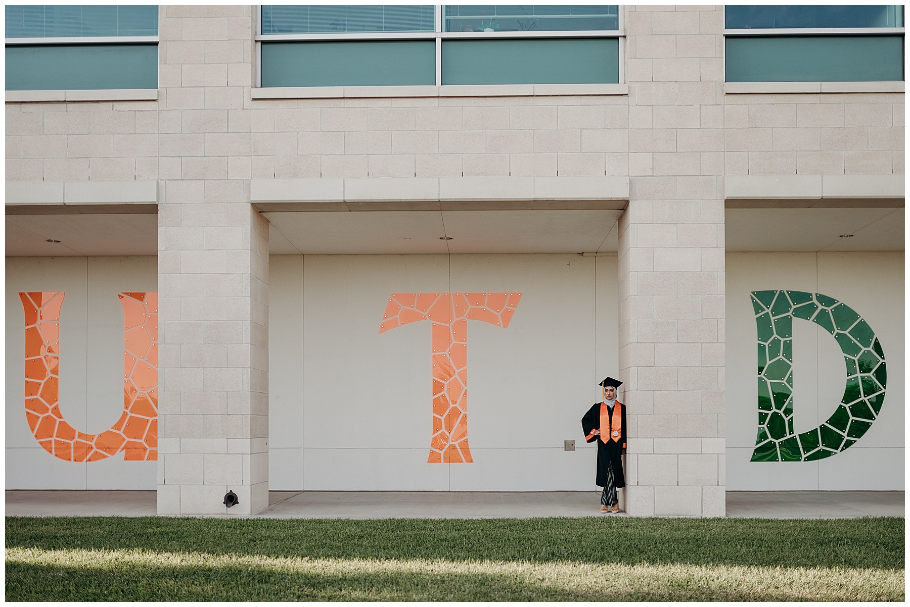 Senior photos at UTD, University of Texas Dallas