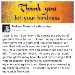 Many thanks and the up most gratitude for sharing this Melissa🙏🏽💜it's always an pleasure and an honor to assist in the change and ascension of others 💜 #marconicsrecalibration #leahlandryrocks #ascension #change #spirituallyfitforlife #3Disnotforme #multidimensional