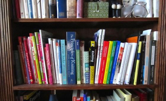 knitting bookshelf