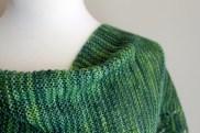 Simple Spring Shawl garter closeup