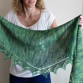 Simple Spring Shawl wide