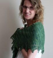 Simple Spring Shawl shoulders