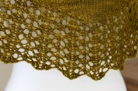 Contentment Shawl lace detail