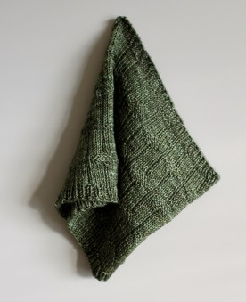 Diamond Purl Cowl hanging