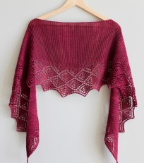 Little Summer Shawl in Oxblood