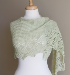 Little Summer Shawl wrapped