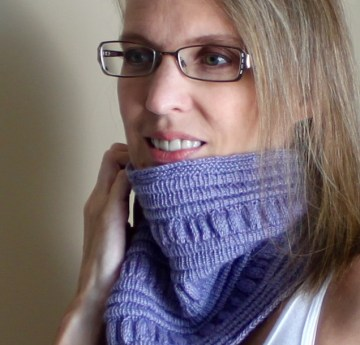 Ruffles Pleats Cowl worn