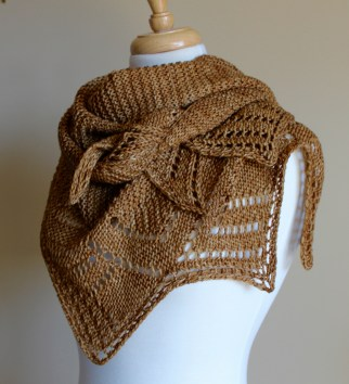 Golden Harvest Shawl 2