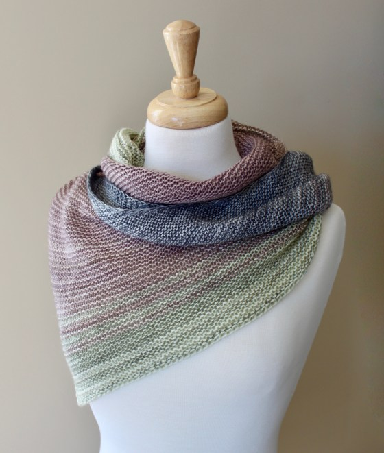 Free Knitting Patterns Blended Shawl Leah Michelle Designs