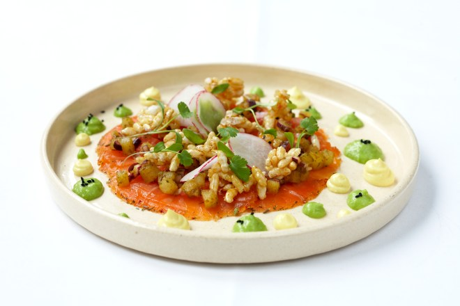 Vivek Singh's Salmon Carapaccio,  Photo: The Cinnamon Club. London